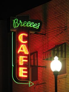 Breeces Cafe at Night | Flickr - Photo Sharing!