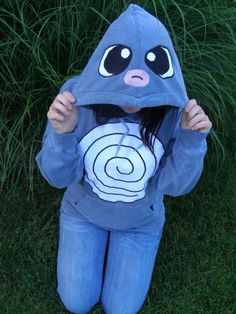 Poliwag Pokemon hoodie by voodooodolly on Etsy