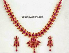 Indian Jewellery Designs - Page 4 of 1735 - Latest Indian Jewellery Designs 2020 ~ 22 Carat Gold Jewellery one gram gold Gold Wedding Jewelry, Gold Jewelry Simple, Gold Jewellery, Ruby Jewelry, Jewelry Art, Indian Jewellery Design, Indian Jewelry, Jewellery Designs, Tikka Jewelry