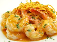 spicy peanut noodles with coconut curry shrimp