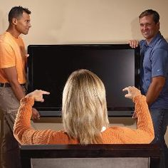 How to hang a flat-screen TV.