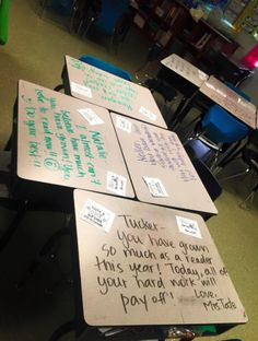 Please do this for your kids before they take the big test!  What a great way to ease anxiety and show how much you love your kiddos!