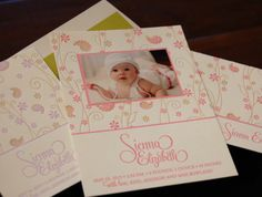 """Pure Paisley"" letterpress birth announcement by Designers Fine Press. Customize  yours with Paper Passionista."