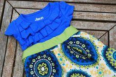 Ruffled TShirt Dress Sizes 12m5T by CharlieandMills on Etsy,