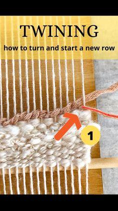 Weaving Loom Diy, Weaving Art, Tapestry Weaving, Rug Loom, Macrame Patterns, Weaving Patterns, Baby Knitting Patterns, Textiles Techniques, Weaving Techniques