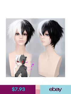 Wigs & Toupees #ebay #Health & Beauty Party Hairstyles, Wig Hairstyles, Danganronpa Monokuma, Cruella Deville, Short Wigs, Hair Extensions, Black And White, Ebay, Health