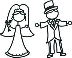 halloween bride & groom clip art - Google Search