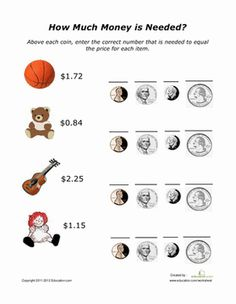 Adding coins worksheets 3rd grade
