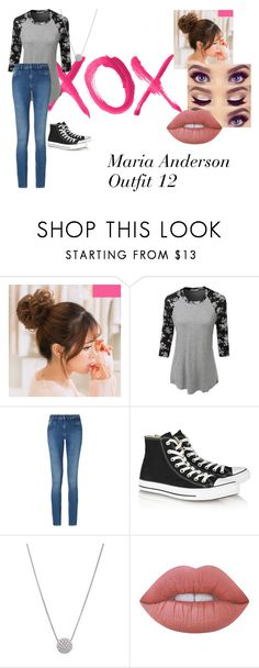 """""""Untitled #30"""" by hippielilicaxo ❤ liked on Polyvore featuring GALA, LE3NO, Calvin Klein, Converse and Lime Crime"""