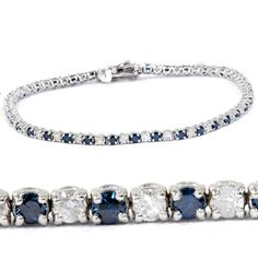 "Round Cut Diamond Tennis Bracelet en 14k Blanc Gold Tone 7/"" 3 ct"
