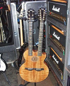 Richie Sambora's Taylor double-neck and a brace of Marshall DSL heads: happy bedfellows