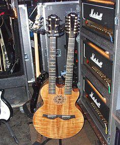 all-koa Taylor doubleneck guitar.  jA