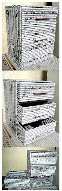 Móveis feitos de jornal passo a passo Mais