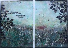 Création Maryse: Une petite page d'Art Journal pour 13@rts