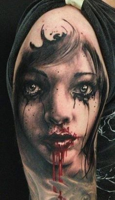 Realism Face Tattoo by Florian Karg | Tattoo No. 8433