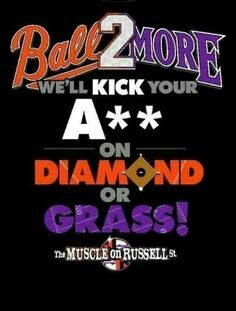 Love my Baltimore birds Orioles and Ravens!!! ❤