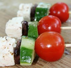 Greek salad on a stick.