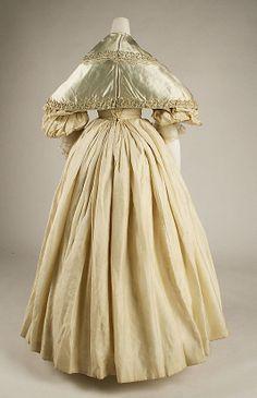 Ensemble Date: ca. 1832 Culture: British Medium: silk. Back