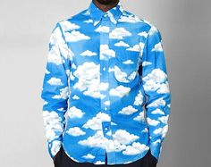 If the sun still ain't shining where you're at, perhaps this Gitman Vintage René Magritte Cloud Print Shirt will party it up.