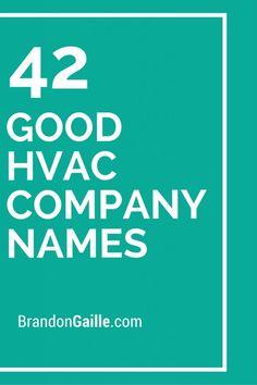 42 Good HVAC Company Names