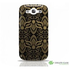 """Samsung Galaxy s3 case """"Boudoir"""" (Gold) from Create Artist Designed harcase by Sharon Turner #gold #sgs3case #s3case #artistdesigned"""