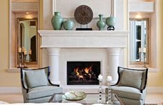 Mantling the Mantle Piece Décor Style For Your Home: Fireplace Decoration Modern Mediterranean Living Room Decor ~ urbanbedougirl.com Decorating Inspiration