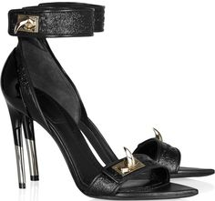 Amanda Seyfried in Givenchy Shark Tooth Ankle Strap Sandals