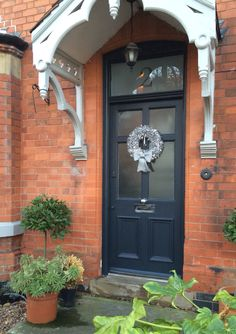 Victorian house...railings farrow & ball...front garden