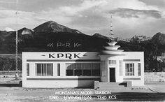 Art Deco Montana's Model Station. KPRK-Livingston