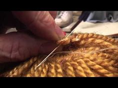 Making a puppet(doll softie) wig from upholstery fringe