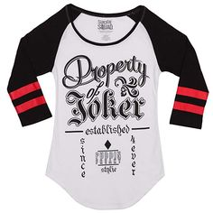 Looking for DC Comics Suicide Squad Property Joker Raglan Juniors T-Shirt ? Check out our picks for the DC Comics Suicide Squad Property Joker Raglan Juniors T-Shirt from the popular stores - all in one. Casual Tops, Casual Shirts, Joker Dc Comics, Joker T Shirt, Joker And Harley Quinn, Branded T Shirts, Tshirts Online, Shirt Style, Squad