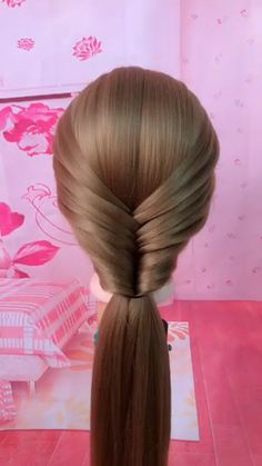 Bun Hairstyles For Long Hair, Braids For Long Hair, Medium Hair Braids, Fast Hairstyles, Girl Hairstyles, Front Hair Styles, Medium Hair Styles, Hair Style Vedio, Hair Tutorials For Medium Hair
