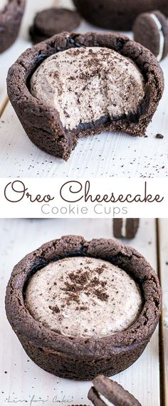 These easy Oreo Cheesecake Cookie Cups are the perfect treat for the Oreo lover in your life! | livforcake.com via @livforcake