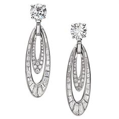 Bulgari - White gold and diamond earrings. High Jewellery collection