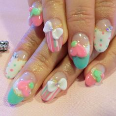 Kawaii #Nails! /// Lose Weight & Feel Great! #1 Best Tasting Detox Tea. SHOP HERE ➡ www.asapskinny.com