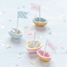 Mark-up walnut washi tape boat Festa Party, Diy Party, Party Ideas, Diy Projects To Try, Craft Projects, Pastell Party, Walnut Shell, Ideias Diy, Partys