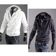 Korean Men's Fashion Stylish Slim Hoodies Fit Long Sleeve Jackets Coats 2 Color | eBay US $23.21
