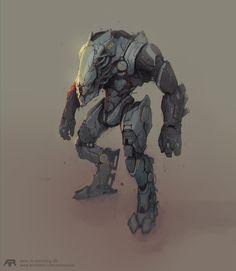 Robot, Andrey Terentev on ArtStation at https://www.artstation.com/artwork/mgX1Z