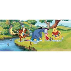 Fotomurales de Disney, Fotomural Panoramico de Disney WINNIE DE POOH PLAYING