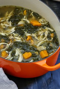 Chicken Sweet Potato and Kale Soup – a gluten-free, Paleo, ONE-POT meal!