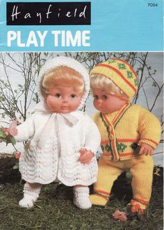 VINTAGE KNITTING Pattern BOOK  Dolls Clothes Patterns Baby