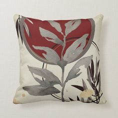 Gray & Burgundy Artistic Abstract Watercolor Throw Pillow - tap/click to personalize and buy #ThrowPillow #burgundy #gray #abstract #and #cream Watercolor Leaves, Watercolor Pattern, Abstract Watercolor, Abstract Pattern, Burgundy Colour Palette, Modern Color Palette, Zen Design, Design Elements, Modern Throw Pillows