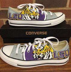 LSU Tigers Low Top Converse