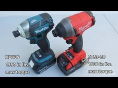 Milwaukee 2753 vs Makita XDT09 Impact Driver Comparison and Demonstration - YouTube