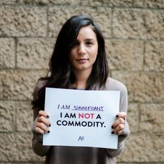 It's simple. Bodies are NOT commodities.A21.org/Education