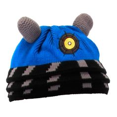 "Doctor Who: Blue Dalek Beanie ""Exterminate"" the cold with this new Doctor Who fashion accessory! Be the first to own an officially BBC licensed Dalek Beanie made out of 100% acrylic."