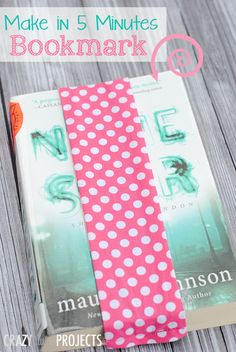 Use this bookmark tutorial to make a bookmark in about 5 minutes. Beginner sewing skills are all that is needed.