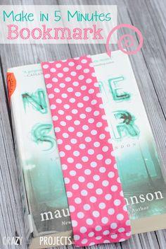Super Easy to Sew Bookmark