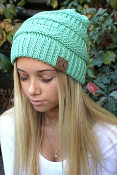 The Must Have Headwear! Lovely CC Beanie is the rage and must have for fall and winter. Well made knitted beanie with CC logo. One size for teens to adults.