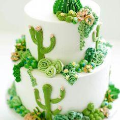 Cakes To Make, How To Make Cake, Beautiful Cakes, Amazing Cakes, Mini Cakes, Cupcake Cakes, Cactus Cake, Cactus Cactus, Indoor Cactus